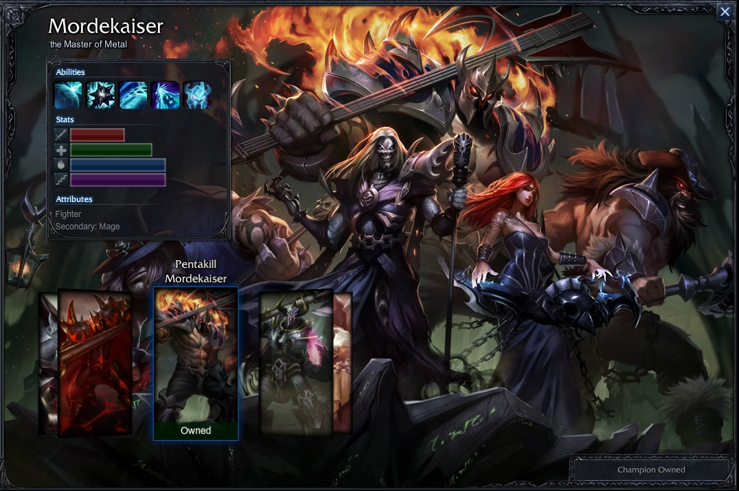 Mordekaiserbotleague of legends pentakillmordekaiser voltagebd Images